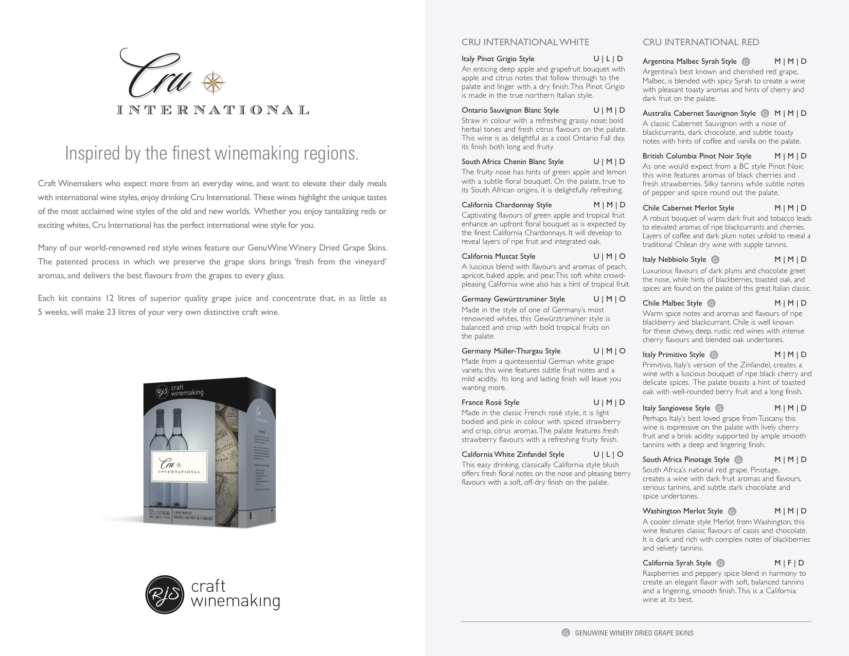 Cru International Sell Sheet2