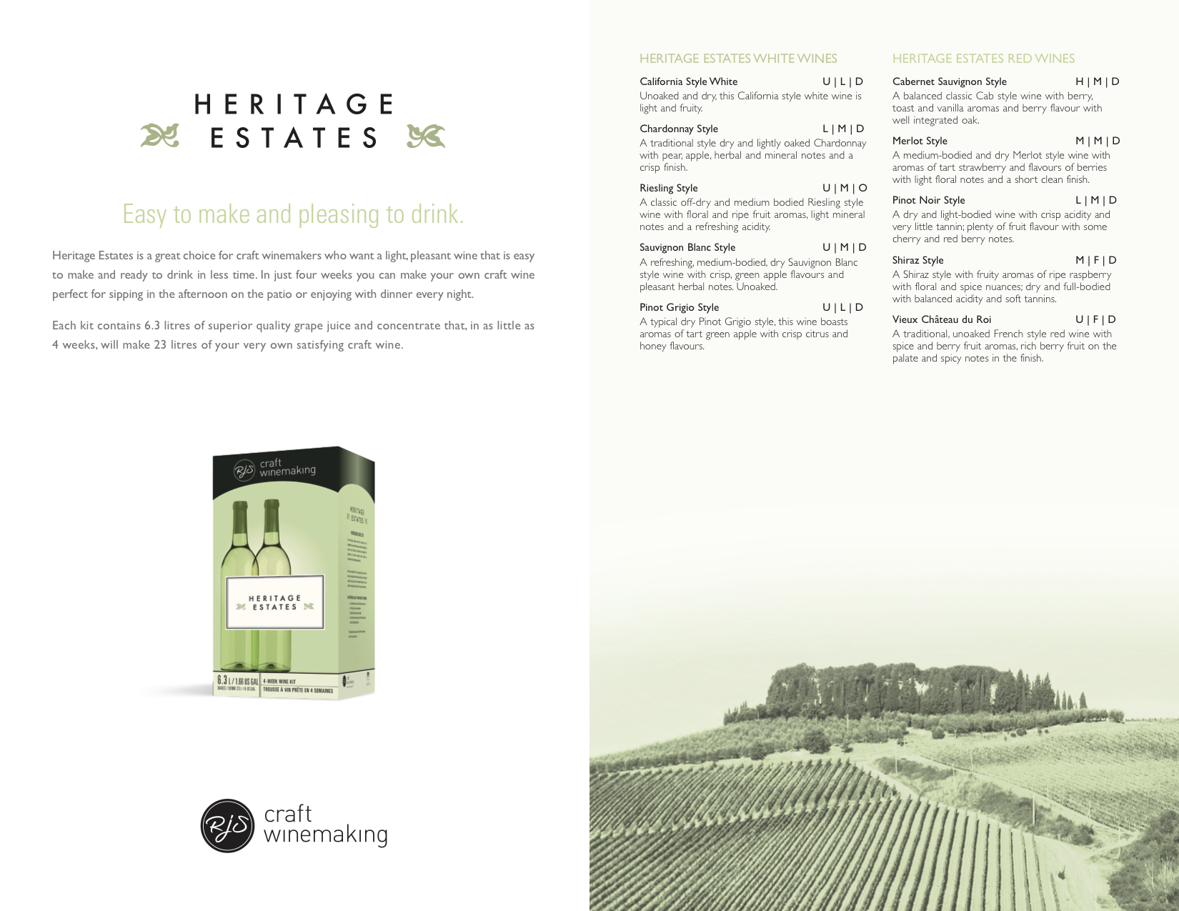 Heritage Estates Sell Sheet2