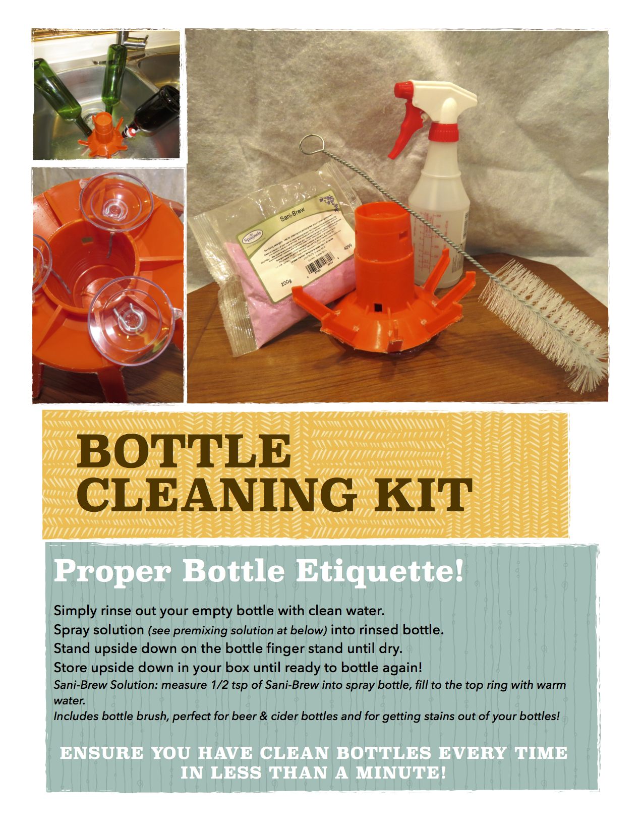 bottle cleaning kit